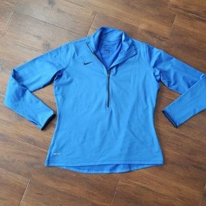 Nike dri-fit blue pullover top, xl